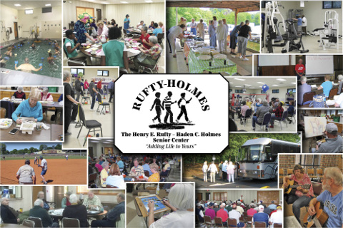 Rufty-Holmes Senior Center Picture Collage